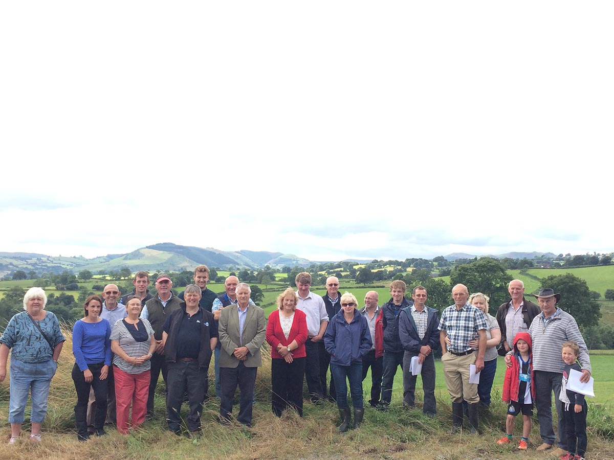 North Midlands members and friends at Bryn Coch Farm